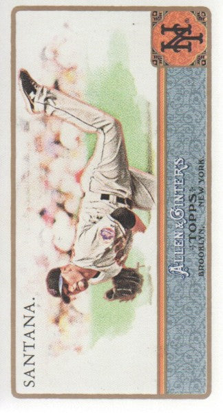 2011 Topps Allen And Ginter Mini A & G Back Johan Santana New York Mets