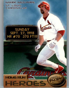 1998 Pacific Home Run Heroes Mark McGwire St Louis Cardinals