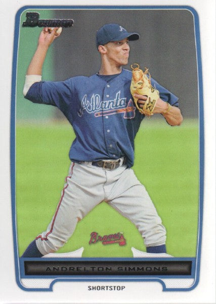 2012 Bowman Prospects Andrelton Simmons Atlanta Braves