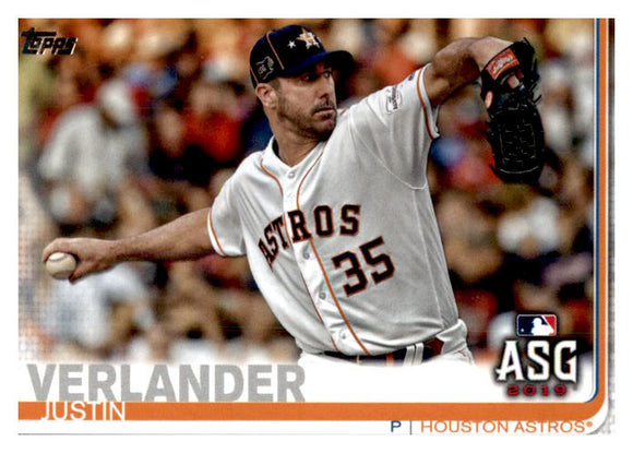 2019 Topps Update Justin Verlander All Star Game Houston Astros