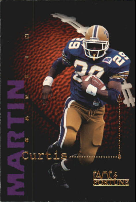 1995 Signature Rookies Fame And Fortune Curtis Martin New England Patriots