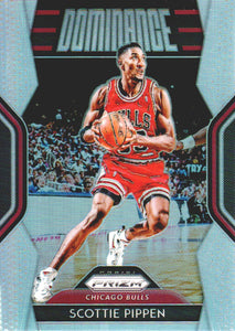 2018-19 Panini Prizm Dominance Prizms Silver Scottie Pippen Chicago Bulls