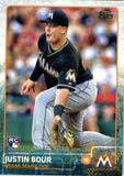 2015 Topps Update Justin Bour Rookie Card Miami Marlins