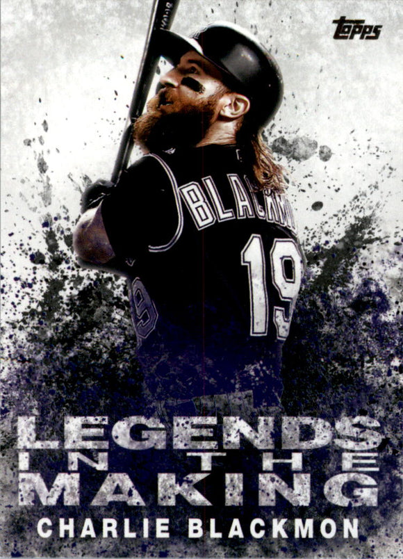 2018 Topps Legends in the Making Series 2 Charlie Blackmon Colorado Rockies