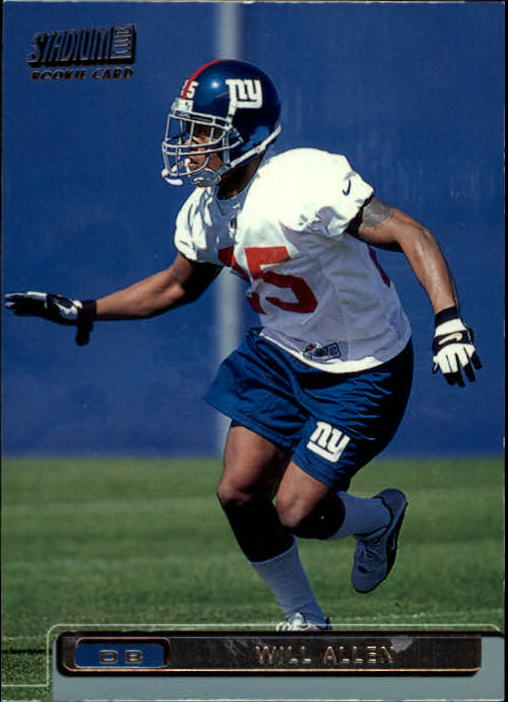 2001 Stadium Club Will Allen Rookie Card New York Giants