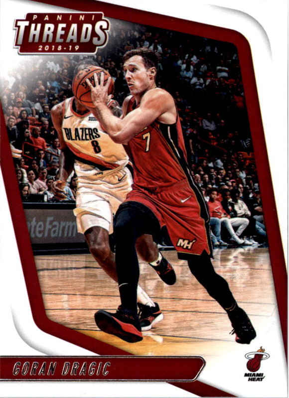 2018-19 Panini Threads Goran Dragic Miami Heat