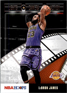 2019-20 Panini Hoops Lights Camera Action LeBron James Los Angeles Lakers