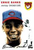 2010 Topps Cards Your Mom Threw Out Original Back Ernie Banks Chicago Cubs