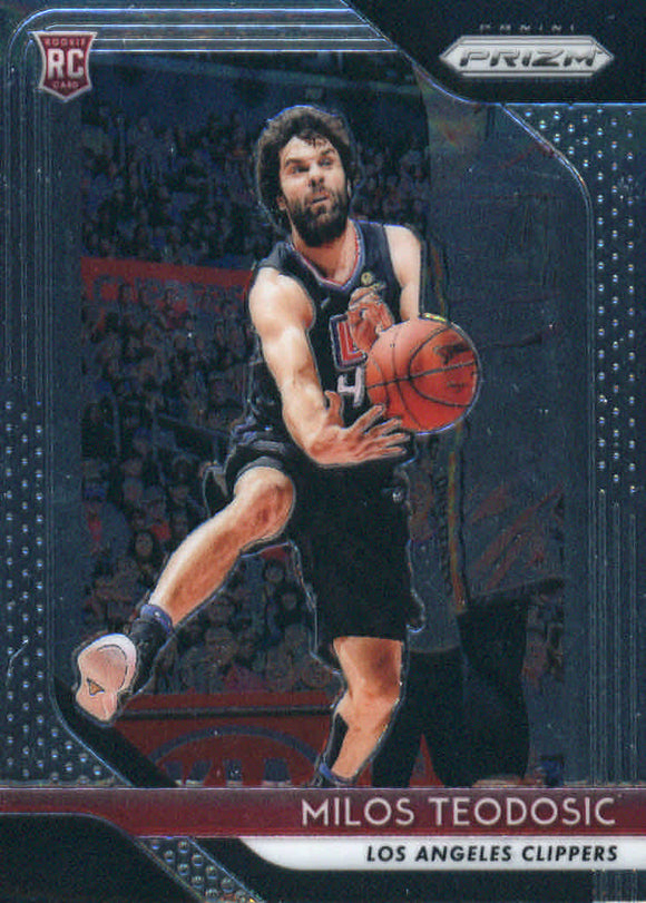 2018-19 Panini Prizm Milos Tedodosic Rookie Card Los Angeles Clippers