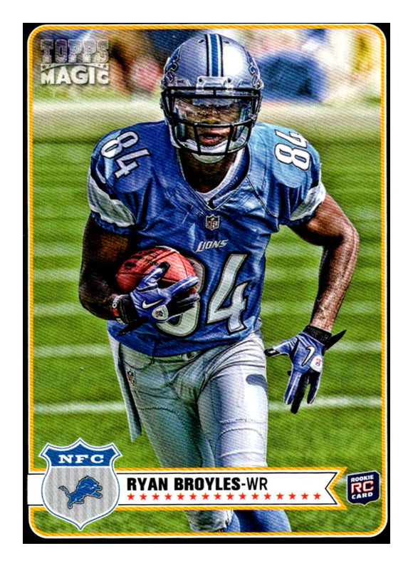 2012 Topps Magic Mini Black Border Ryan Broyles Detroit Lions