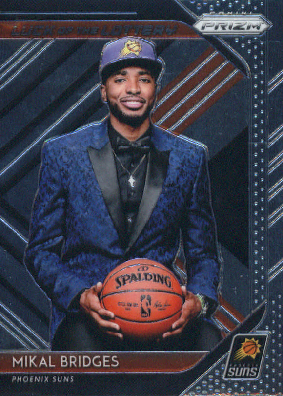 2018-19 Panini Prizm Luck Of The Lottery Mikal Bridges Phoenix Suns