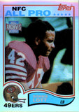 2001 Topps Archives Reserve Reprint 82 Ronnie Lott San Francisco 49ers