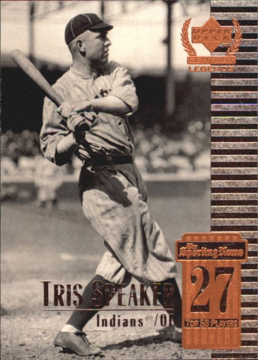1999 Upper Deck Century Legends Tris Speaker Cleveland Indians