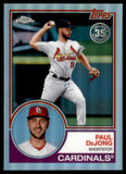 2018 Topps Chrome 83 Topps Refractor Paul DeJong St Louis Cardinals