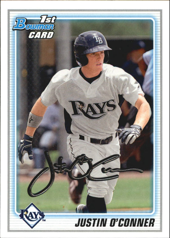 2010 Bowman Draft Prospects Justin O'Conner Tampa Bay Rays