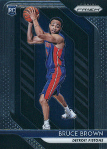 2018-19 Panini Prizm Bruce Brown Rookie Card Detroit Pistons