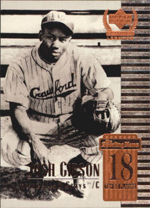 1999 Upper Deck Century Legends Josh Gibson Homestead Grays