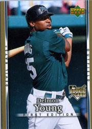 2007 Upper Deck First Edition Delmon Young Rookie Card Tampa Bay Rays
