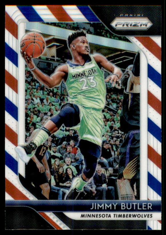 2018-19 Panini Prizm Prizms Red White And Blue Jimmy Butler Minnesota Timberwolves