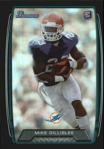 2013 Bowman Rainbow Black Mike Gillislee Rookie Card Miami Dolphins