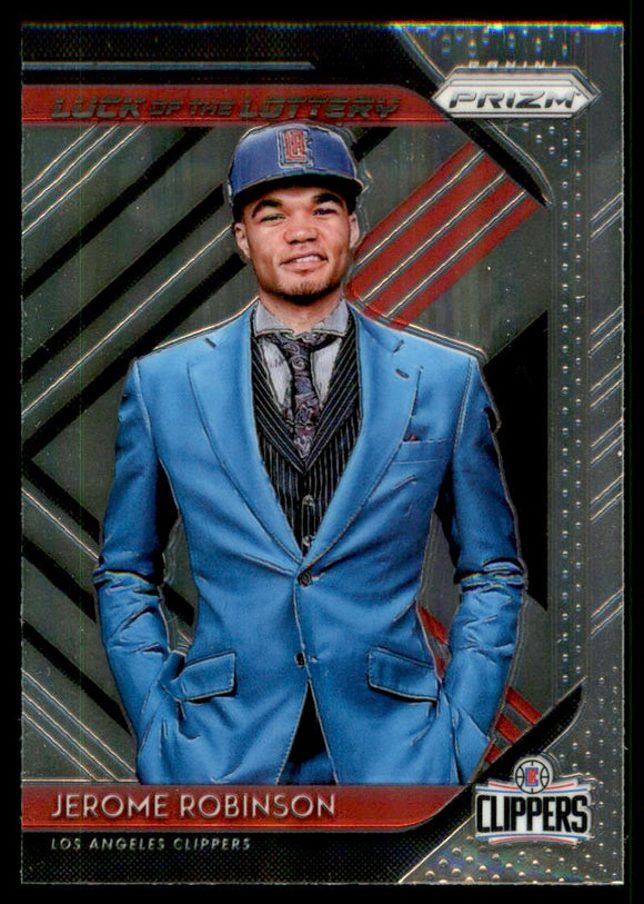 2018-19 Panini Prizm Luck Of The Lottery Jerome Robinson Los Angeles Clippers