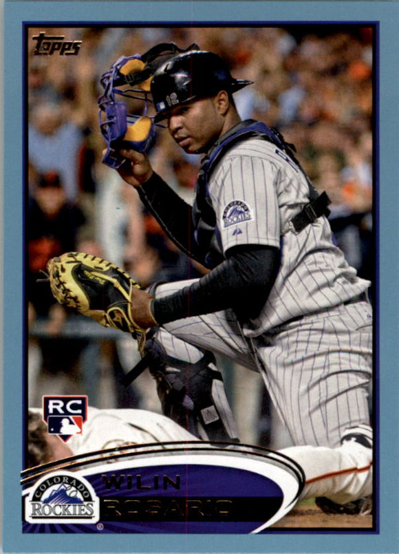 2012 Topps Walmart Blue Border Wilin Rosario Rookie Card Colorado Rockies
