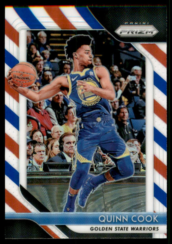 2018-19 Panini Prizm Prizms Red White Blue Quinn Cook Golden State Warriors