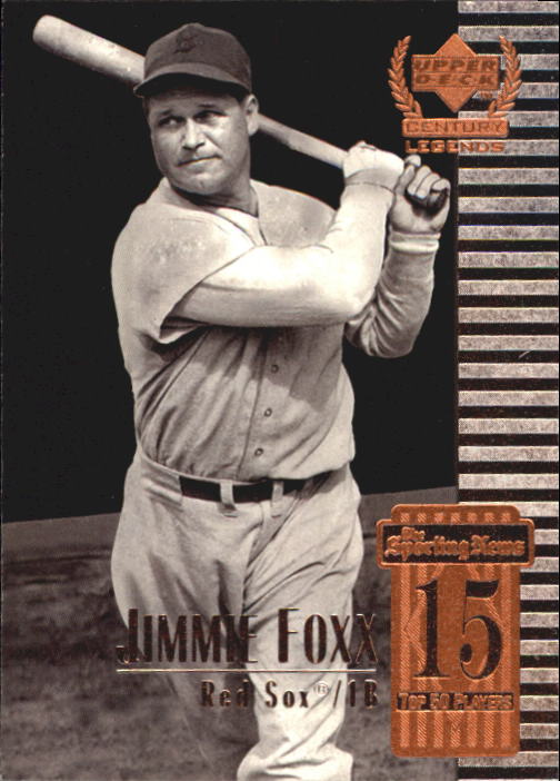 1999 Upper Deck Century Legends Jimmie Foxx Boston Red Sox