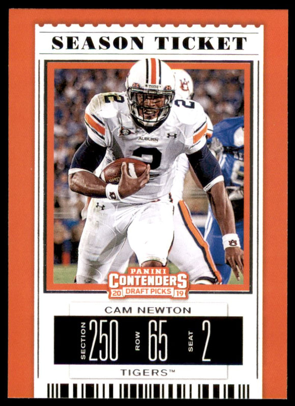 2019 Panini Contenders Draft Picks Cam Newton Carolina Panthers