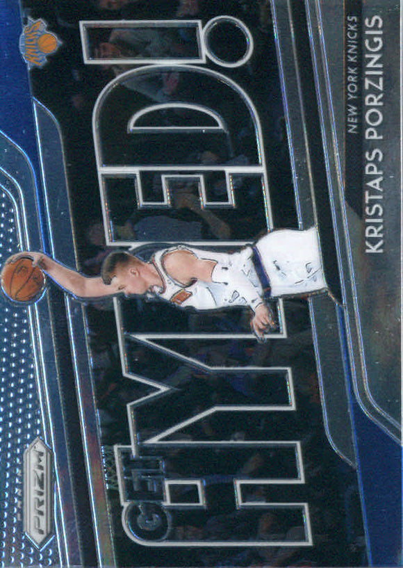 2018-19 Panini Prizm Get Hyped Kristaps Porzingis New York Knicks
