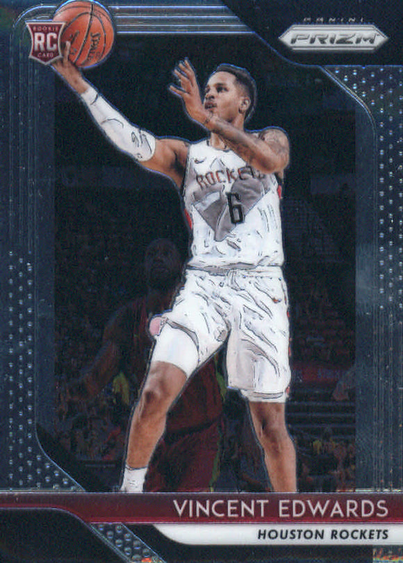 2018-19 Panini Prizm Vincent Edwards Rookie Card Houston Rockets