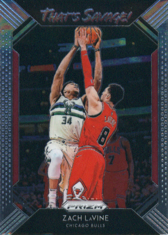 2018-19 Panini Prizm That's Savage Zach LaVine Chicago Bulls