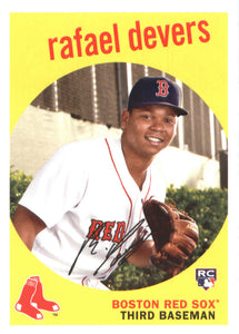 2018 Topps Archives Rafael Devers Rookie Card Boston Red Sox
