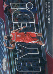 2018-19 Panini Prizm Get Hyped James Harden Houston Rockets
