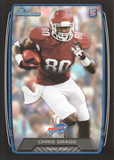 2013 Bowman Black Chris Gragg Rookie Card Buffalo Bills