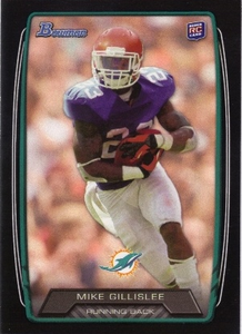 2013 Bowman Black Mike Gillislee Rookie Card Miami Dolphins