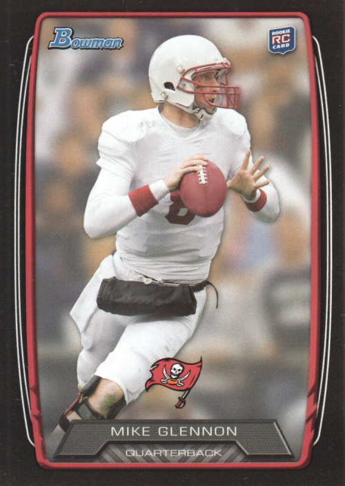 2013 Bowman Black Mike Glennon Rookie Card Tampa Bay Buccaneers