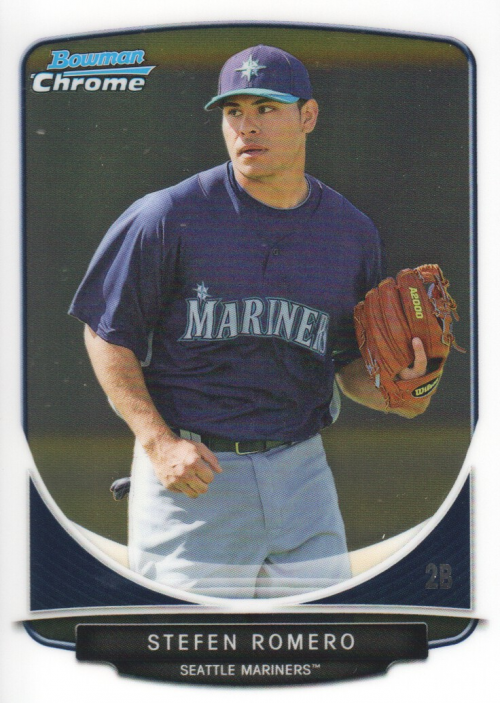 2013 Bowman Chrome Prospects Stefen Romero Seattle Mariners