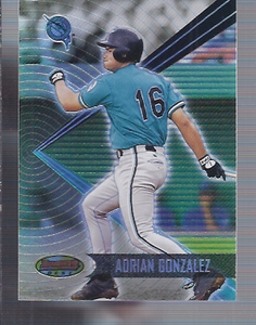 2001 Bowman's Best Adrian Gonzalez Florida Marlins