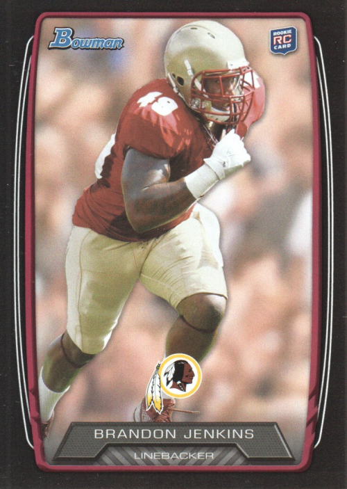 2013 Bowman Black Brandon Jenkins Rookie Card Washington Redskins