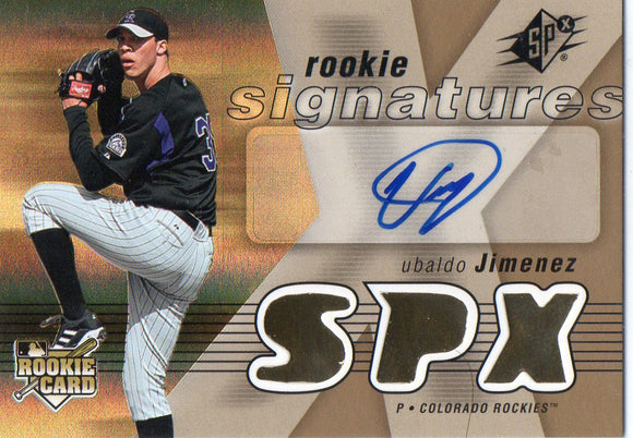 2007 Spx Rookie Signatures Ubaldo Jimenez Colorado Rockies - JM Collectibles