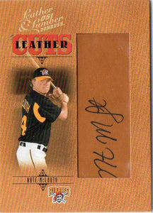 2005 Donruss Leather & Lumber Nate McLouth Leather Cuts Autograph /256 Pirates - JM Collectibles