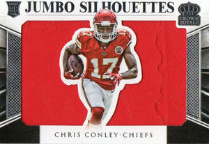 2015 Panini Jumbo Silhouettes Chris Conley Rookie Card /99 Kansas City Chiefs - JM Collectibles