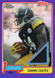 2015 Topps Chrome Purple Border Sammie Coates Jersey Card /75 Pittsburgh Steeler - JM Collectibles