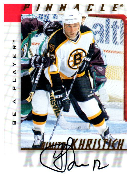 1997-98 Be A Player Dimitri Khristich Autograph Card Boston Bruins - JM Collectibles