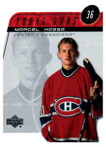 2002-03 Upper Deck Marcel Hossa Young Guns Card Montreal Canadiens - JM Collectibles