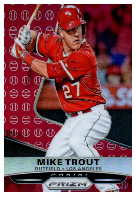 2015 Panini Mike Trout Red Prizm Refractor Los Angeles Angels - JM Collectibles