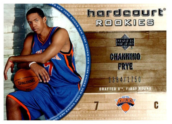 2005-06 Upper Deck Channing Frye Hardcourt Rookie Card #D/1750 New York Knicks - JM Collectibles