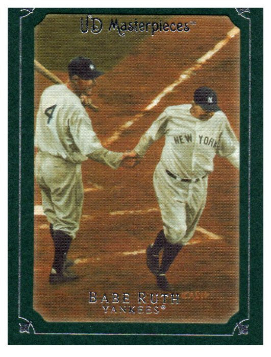 2007 UD Masterpieces Babe Ruth Green Linen Frame New York Yankees - JM Collectibles