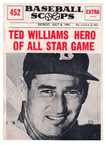 Buy 1961 Nu Card Ted Williams Baseball Scoops Boston Red Sox